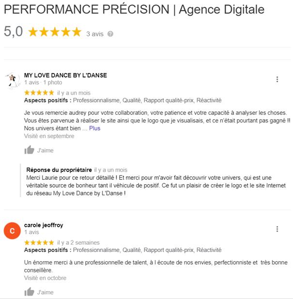 Performance Précision - Audrey REDONDO - Avis clients